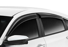 GENUINE JDM BLACK SUN WINDOW DOOR VISOR CIVIC SEDAN HATCH TYPE R FK 2016 - 2018