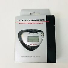 Talking Pedometer Announces Steps & Distance Plays Melodies Alarm Never Used