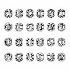 925 Sterling Silver Initial Alphabet Letter Shaped For Bracelet Jewelry Making