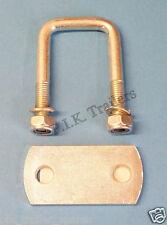 40mm x 40mm U Bolt with PLATE & Locking Nuts - Mild Steel - Trailer