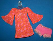 Vintage & MOD 1969 Talking PJ Original Outfit Groovy Print Mini Dress #1113