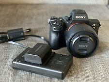 Sony a7 III 24.2 MP Mirrorless Digital Camera 50mm lens, 1 battery and charger