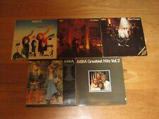ABBA - 5 Vinyl LP Job LOT - Super Trouper, The Album, Visitor, Hits 1 & 2