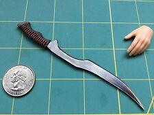 """Woven Grip Fantasy khopesh"" 1:6 Scale Sword Custom Steel Miniature By Auret"