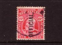 NEW ZEALAND.... 1909 KEDV11  6d red OFFICIAL used
