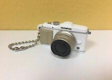 Olympus Micro White Silver Camera Mini Keychain Replica 90's Vintage PEN E-P3