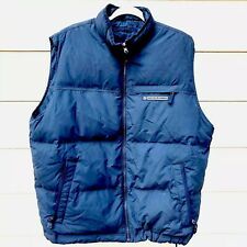 Abercrombie And Fitch Mens Duck Down Vest Double Sided Navy Blue Size XL