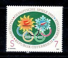 AUSTRIA 1992 1878 OLIMPIADAS 1992 1v. B-92 I
