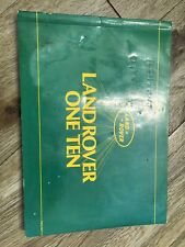Land Rover 110 Owners Manuel