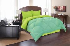 Super Soft Goose Down 3pc Reversible Alternative Comforter, Full, Aqua/Lime