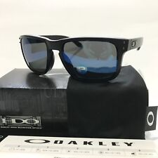 Oakley Sunglasses * Holbrook 9102-52 Matte Black Ice Iridium Polarized