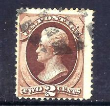 US Stamps - #135  - USED - 2 cent Jackson Issue w/H Grill  - CV $75