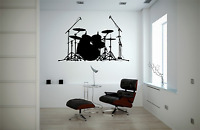 Drum Kit Music Transfer Wall Art Decal MU3