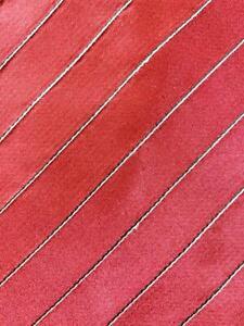DONALD J.TRUMP RED SILVER BEAUTIFUL STRIPE SILK NECKTIE TIE MJL0820A #Y31