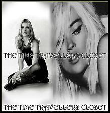 Bnwt Kate Moss Topshop Schwarzes Kleid Kunstleder Nieten Kragen Neckholder UK 10