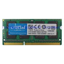 Micron 4GB PC3L-12800S DDR3L-1600Mhz 204pin Sodimm Laptop Notebook Memory 1.35V