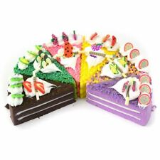 Realistic Artificial Triangle Cake Assorted Fake Cakes Model Photography Props