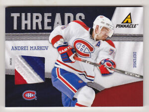 11-12 Pinnacle Andrei Markov /25 PATCH Threads Canadiens 2011