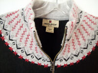 WOOLRICH Nordic Ski Zip-Up Sweater Vest~100% Wool~Women's XL