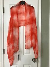 NWT $148 Eileen Fisher Firfl  Linen Shibori Shapes Scarf Wrap