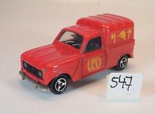 MAJORETTE 1/65 n. 230 RENAULT 4 L pompiers Vigili del Fuoco n. 4 #547