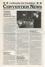 1980 LYNDON LAROUCHE President POLITICAL Newsletter CONVENTION NEWS Democrat