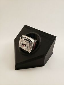 Championship Baseball Ring Display (Black) Youth Sports trophy shelf must have!