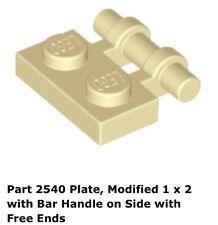 Lego 1x 2540 Tan Plate, Modified 1 x 2 with Bar Handle on Side 2507 Ninjago
