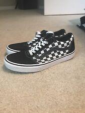 Vans Mens Skate Shoe Old Skool School Checkerboard Checker Black White Size 9