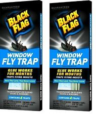 2 x Black Flag Window Fly Trap  Catches All Flying Insects - Total 8 Traps