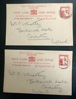 X 2 1931 POST CARDS FROM JERUSALEM PALESTINE TO ENGLAND