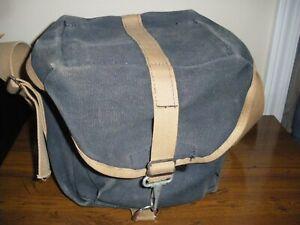 Domke Original Compact Canvas Shoulder Bag - Navy Blue- Precursor to the F-3