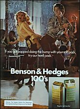 1976 couple dancing Benson & Hedges 100s cigarettes vintage photo print ad ads37