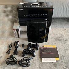 Sony PlayStation 3 60GB PS3 mit OVP inkl. 2 Controllern und Spielen (CECHC04)