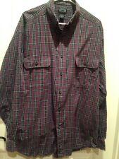Structure Men's Button-down Long Sleeve Shirt, size L,  blue/red plaid cotton