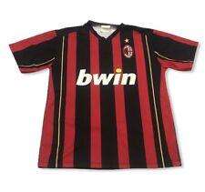 Vintage AC Milan Bwin Soccer Jersey Men's sz M Rino Gattuso #8 Club