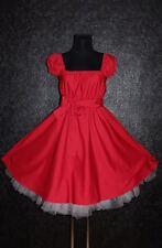 Gr 48 50 52 ROCKABILLY 50er Petticoat Pin Up PARTY Vintage KLEID Retro Gothic
