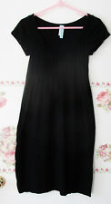 JJ Authentic Simply Black Knit sweater Stretch Dress Size S XS