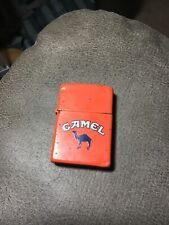 New Listing1991 Zippo Cigarette Lighter Camel Orange Enamel Lot Ab5