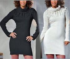 Long Pullover Strick Kleid  Gr. 44/46 schwarz 09427320 NEU