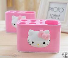 Hello Kitty Toothbrush Toothpaste Holder 4-Hole Stand Bathroom Storage KK432