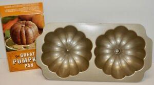 WILLIAMS-SONOMA THE GREAT PUMPKIN PAN cake baking pan~ 2004 NordicWare ~ EUC!