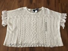 NWT Polo Ralph Lauren Girl's White Knit Sweater Sz L (12-14) - NEW WITH TAG