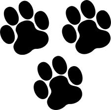 36 Paw Prints 100mm Dog Cat Wall Art Sticker Decals Bedroom Living Room Car