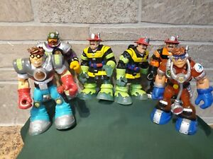 "2001 2002  Mattel Fisher Price RESCUE HEROES 6"" Inch Lot of 6 EUC Billy Blazes"