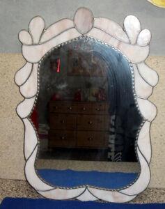 Tiffany Wandspiegel, Bleiverglasung,Oval, Unikat, Handarbeit