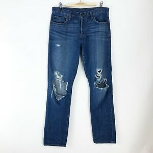 Levi Strauss Destroyed Button Fly Straight Jeans - Size 30