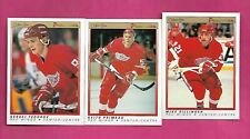 1990-91 OPC PREMIER WINGS FEDOROV RC + PRIMEAU RC + SILLINGER RC  (INV# C4582)