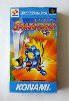 Super Famicom SNES Sparkster Box and Manual NTSC-J from Japan Tested