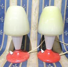 2 x 50 er Jahre Nachtischlampe Pilzlampe